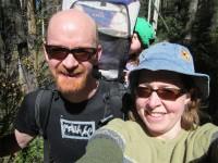 Camping weekend hike
