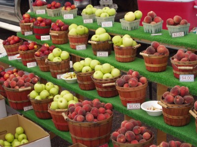Farmers Market Apples and Peaches