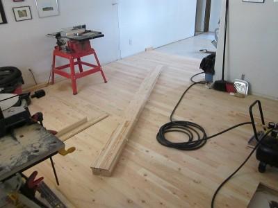 Installing a Douglas Fir plank floor