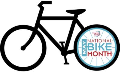 National Bike Month bicycle logo