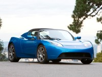 Blue Tesla Roadster