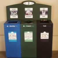 Recycling Compost and Trash Bin