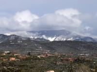 The Sangre de Cristo Mountains after a Spring snow storm
