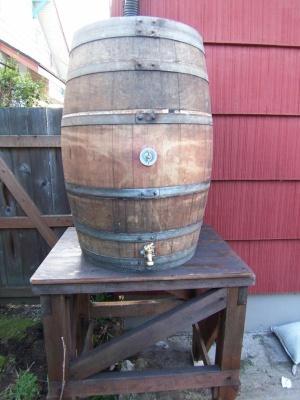 Wine Barrel to Rain Barrel
